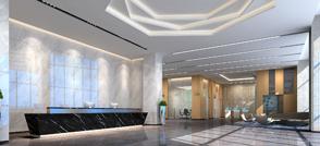 沃空间:听说办公室前台门厅这样装,可以聚财气…
